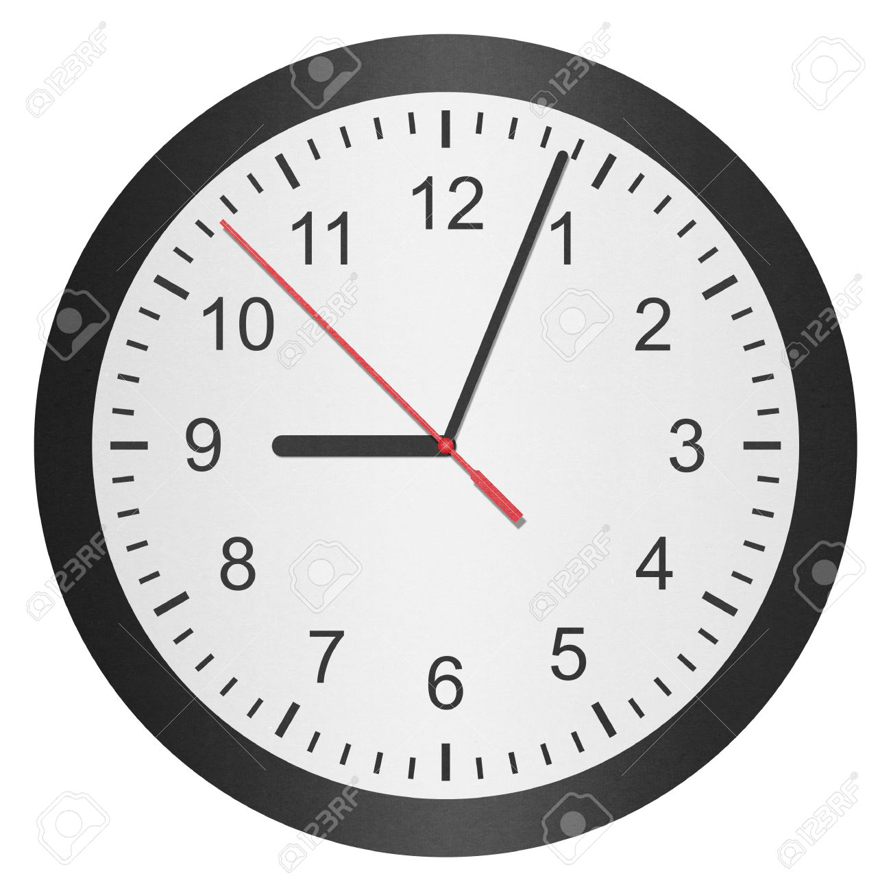 The Paper Cut Of Time Clock, Watch Is Number With Hour Hand And.