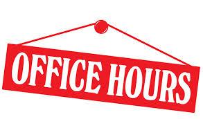 Office Hours Clip Art.