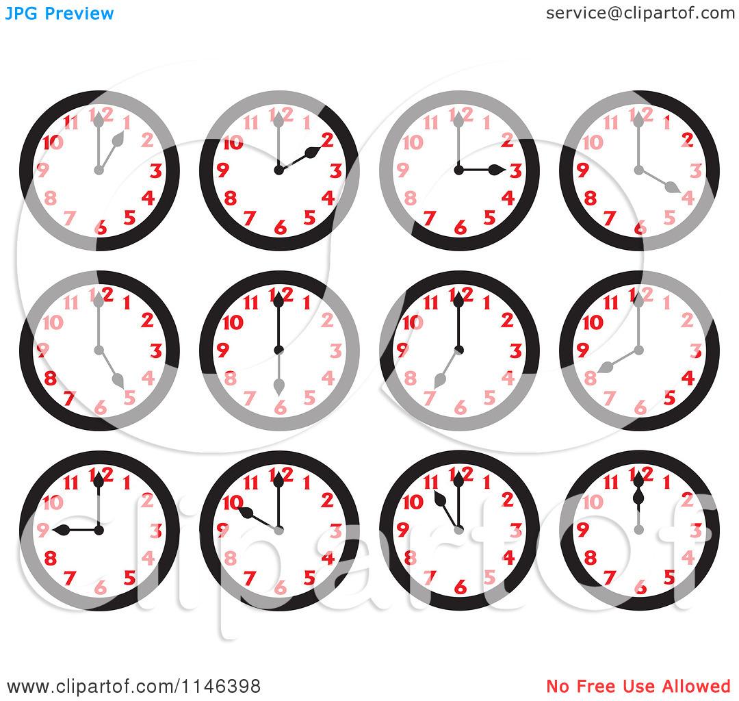 School hours clipart.
