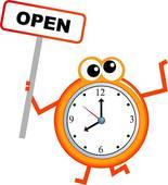 Open Hours Clipart.