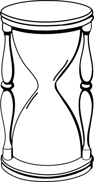 Hourglass clip art Free vector in Open office drawing svg.
