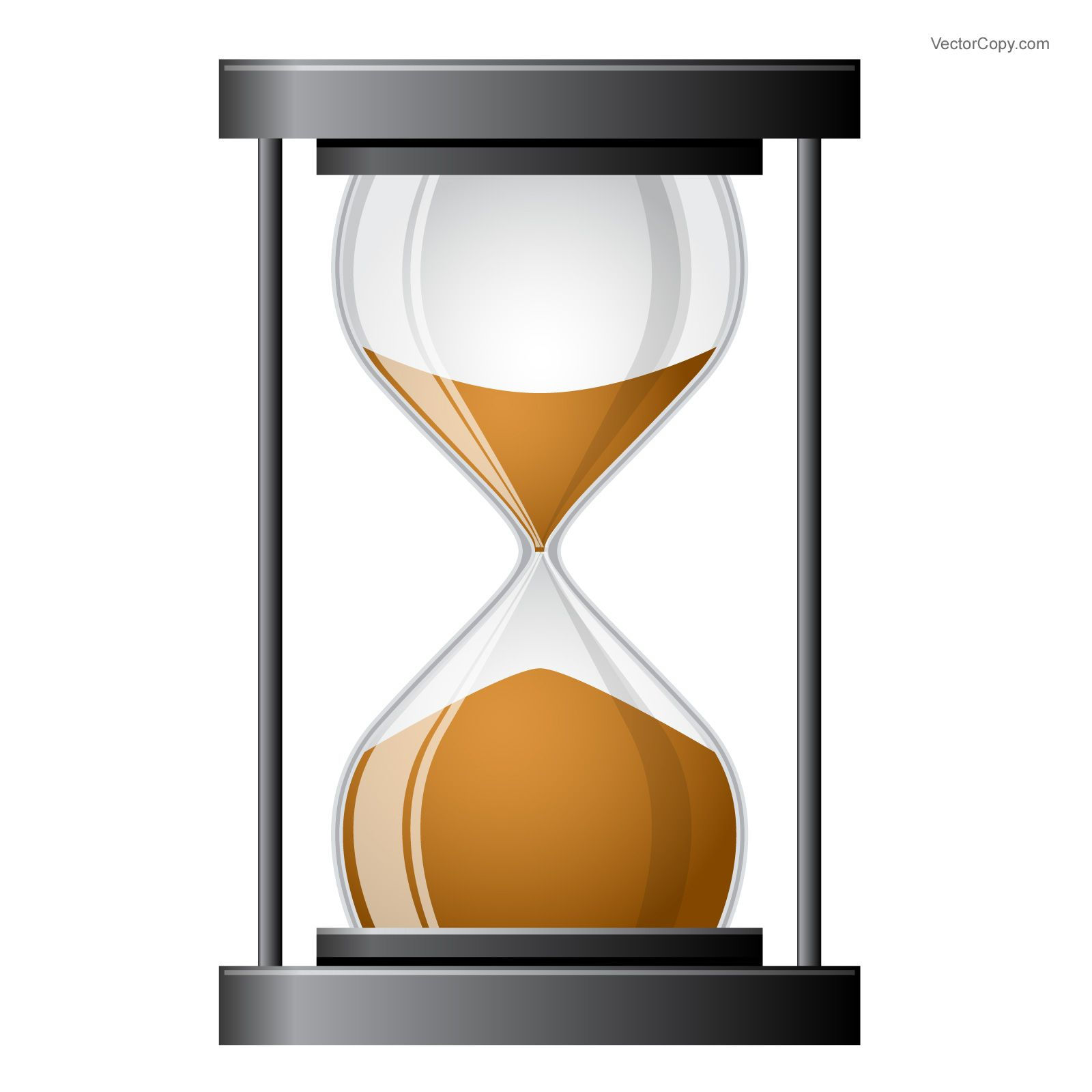 Hourglass icon, free vector in 2019.