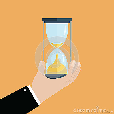 Hourglass Time Banner Background Stock Photo.