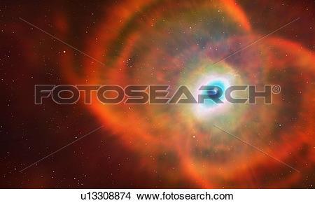 Stock Photo of Artwork of MYCN18 (Hourglass Nebula) u13308874.
