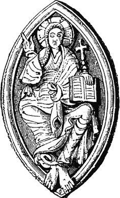Vesica piscis (element of sacred geometry) in hourglass nebula or.