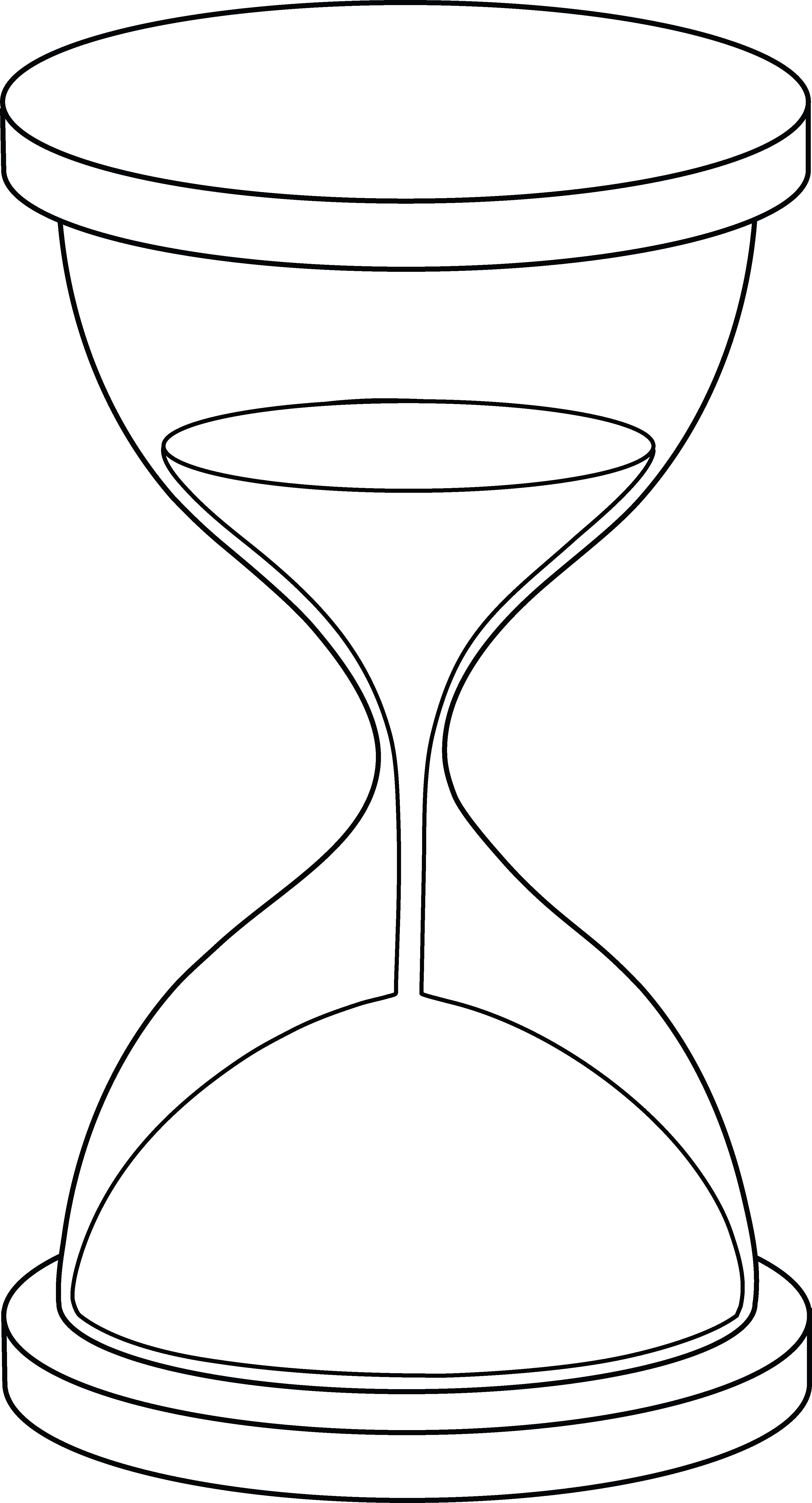 Hourglass Line Art.