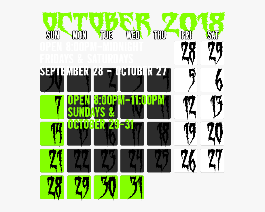 Dates & Hours Of Operation.