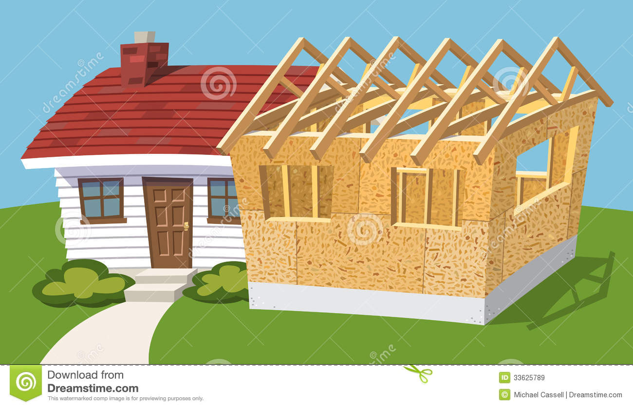 House addition clipart clipground for Cottage additions plans