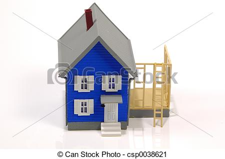 Stock Photography of Home Addition.
