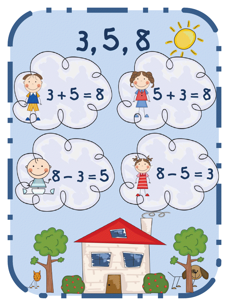 Fact Family House Clipart.