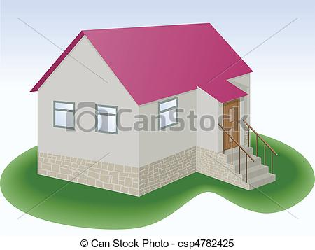Clipart Vector of simple house.