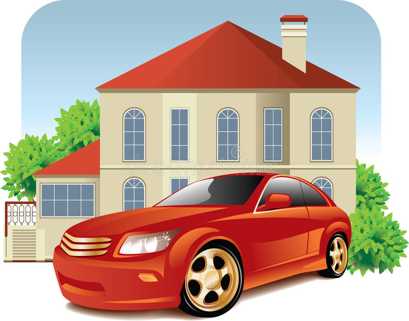 House Car Stock Illustrations.