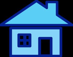 Blue Clipart House.