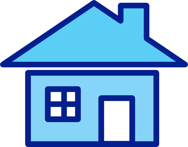 Blue House Clip Art at Clker.com.