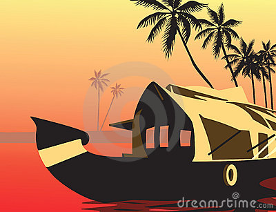 House boat clipart.