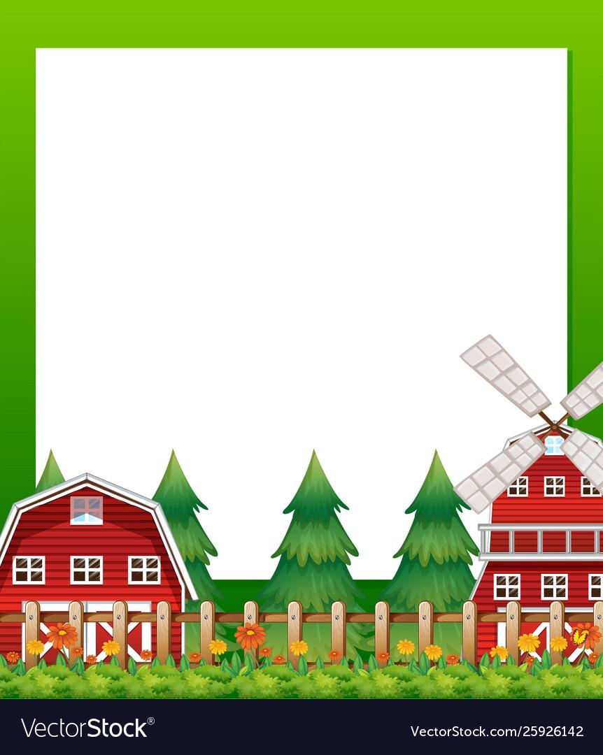 Countryside landscape border banner.