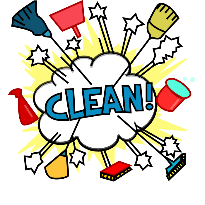 Cleaning Lady Cartoon.