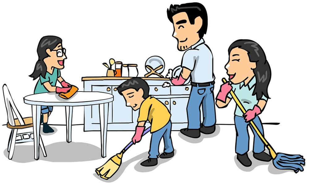 364 House Cleaning free clipart.