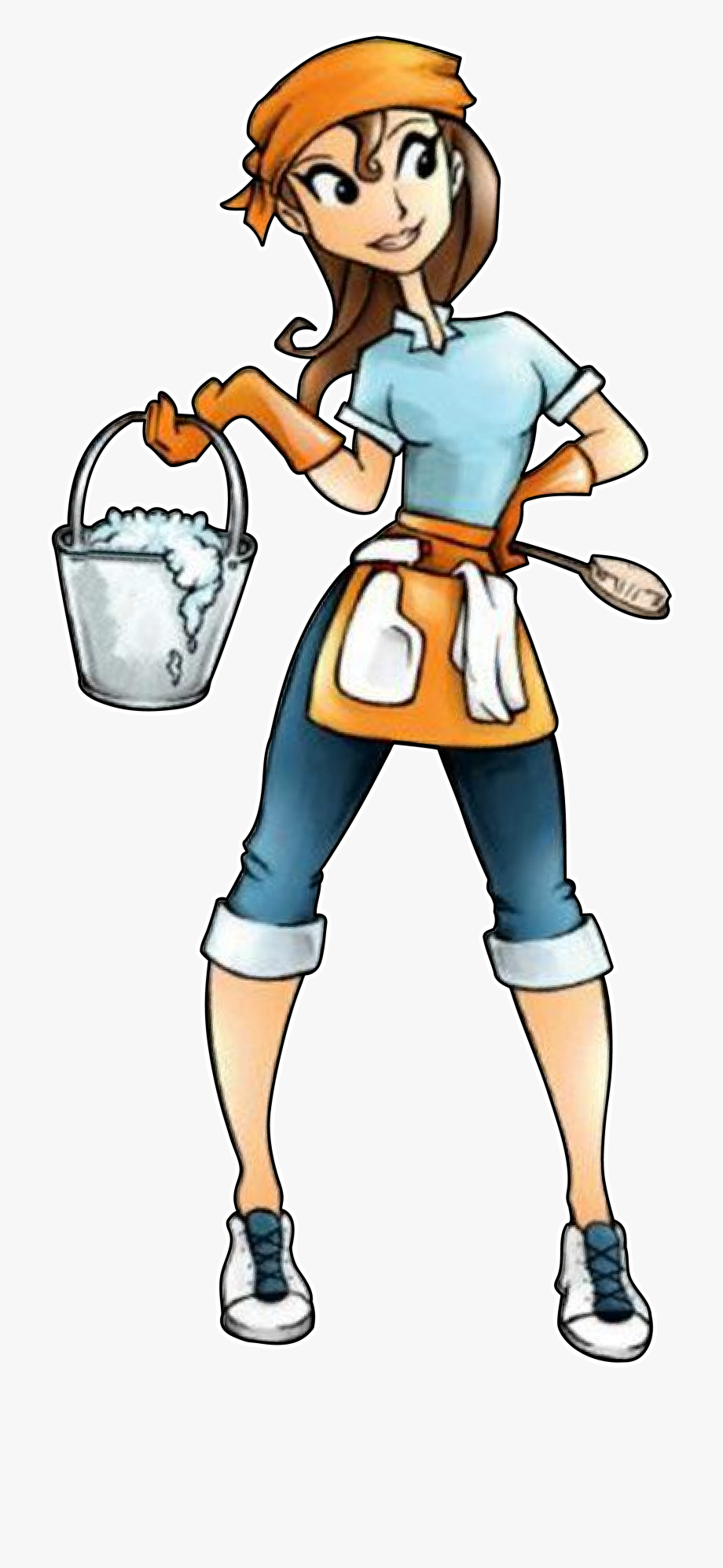 Cleaning Lady Png.