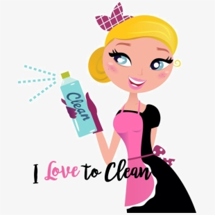 Lady House Cleaning Services Clip Art.
