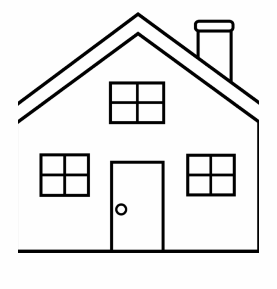 House Outline Clipart House Outline Clipart Black And.