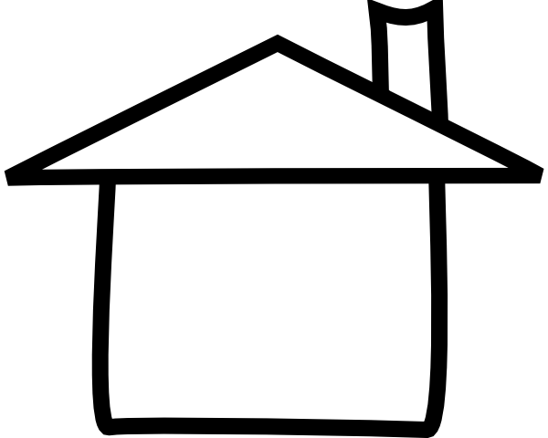 House Clipart Black And White. House Outline Clipart, House Black.