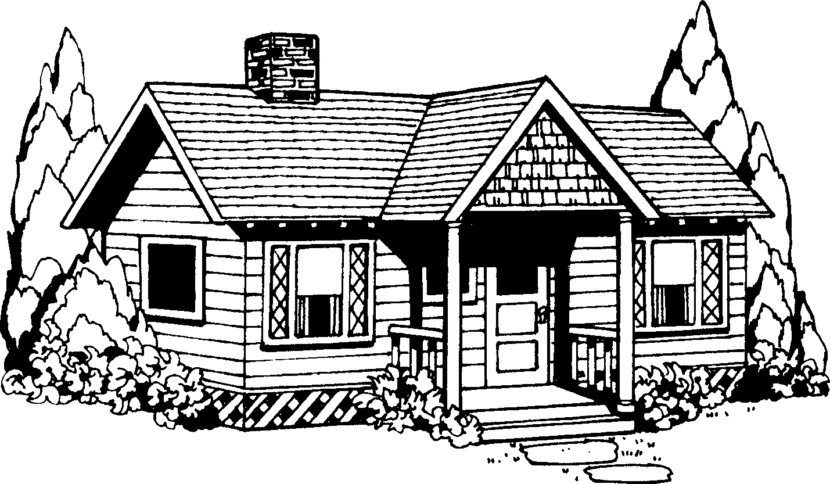 Best House Clipart Black and White #29979.