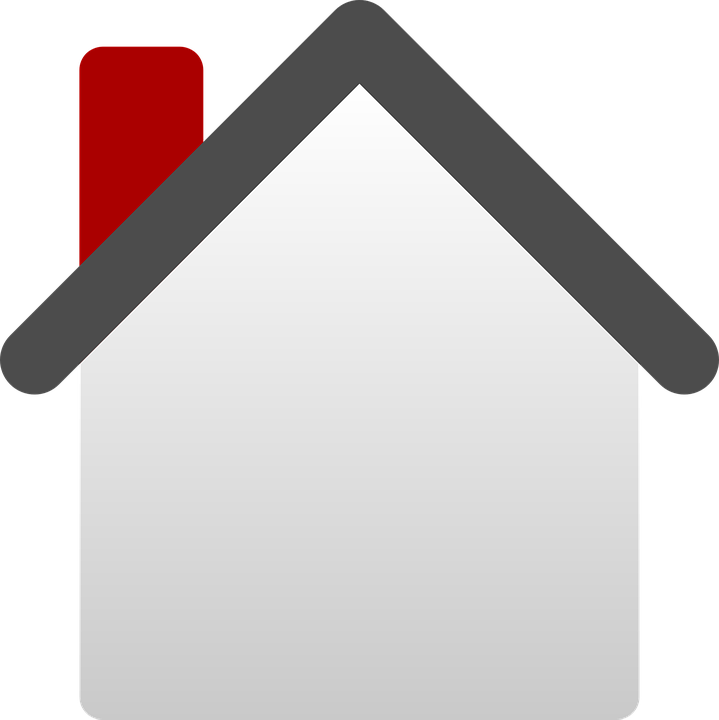 Free vector graphic: House, Home, Symbol, Blank, Chimney.