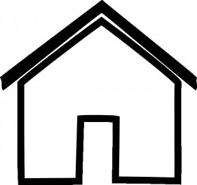House Clipart Blank.
