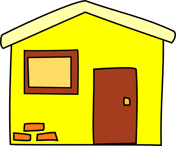Yellow House SVG Clip arts download.