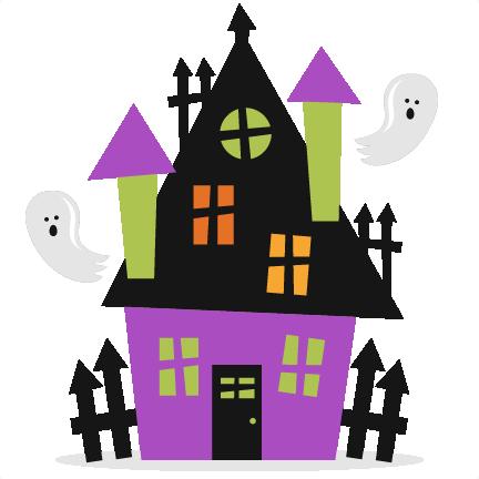 Cute Haunted House Clipart.