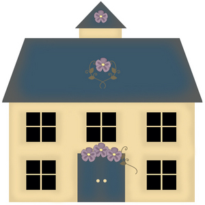 Draw a Country Primitive Clipart House in Photoshop.