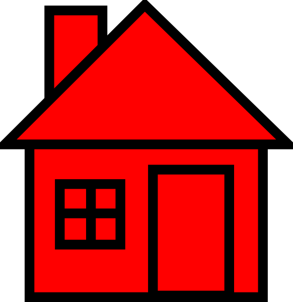 House Clipart Red.