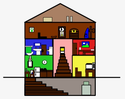 Free Inside House Clip Art with No Background.