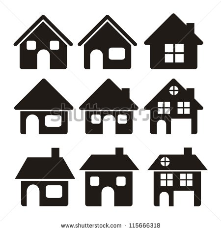 House Silhouette Stock Images, Royalty.
