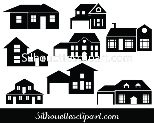 Perfect House Silhouette Vector For Download.