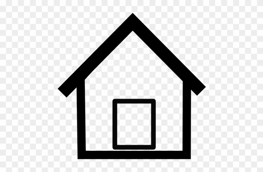 Roof Clipart Simple House Outline.