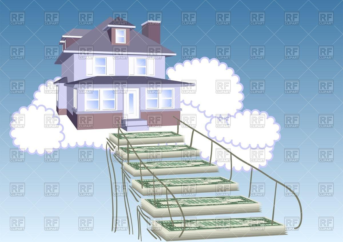 Mortgage loan concept.