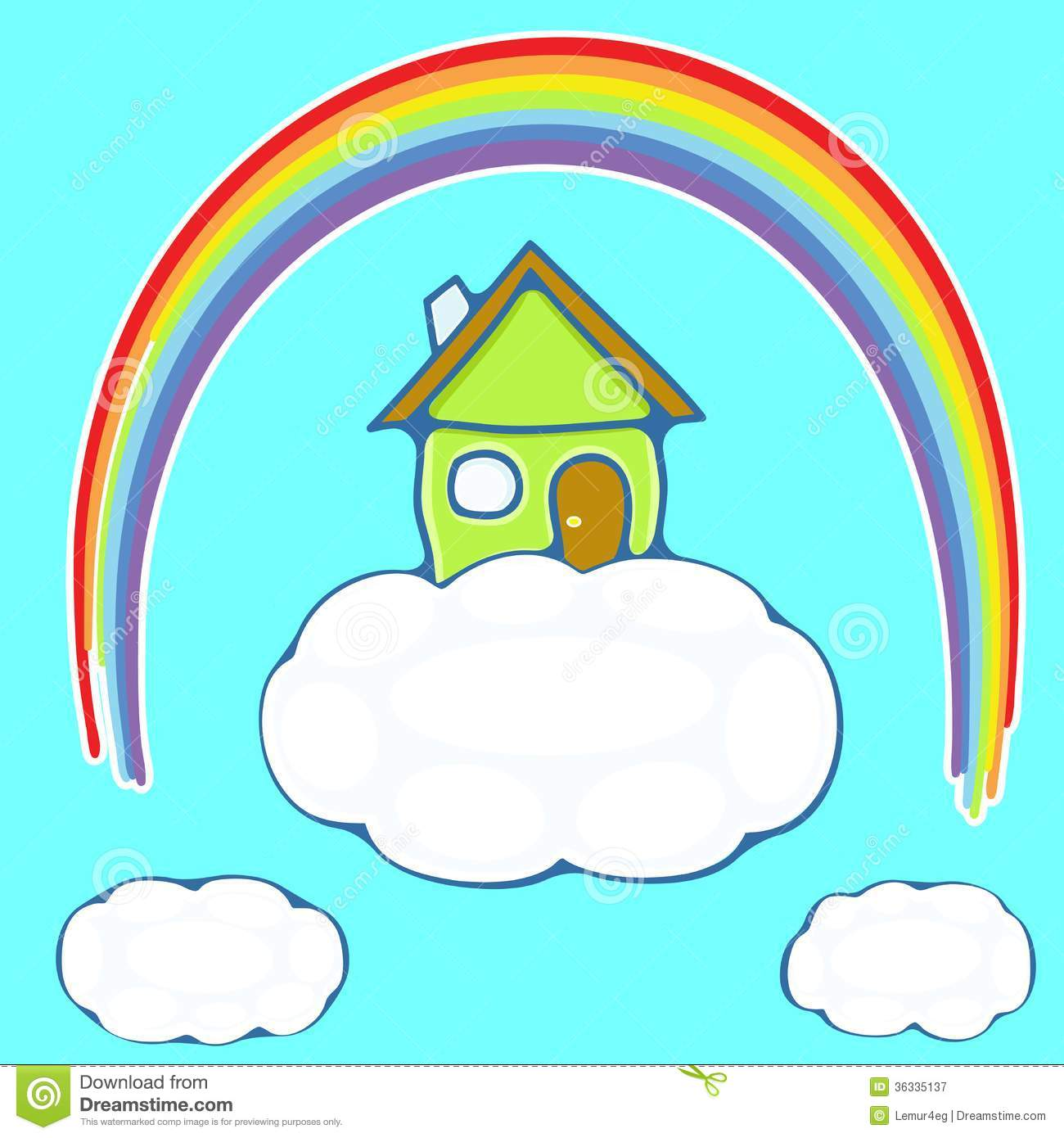 House On A Cloud Royalty Free Stock Photography.