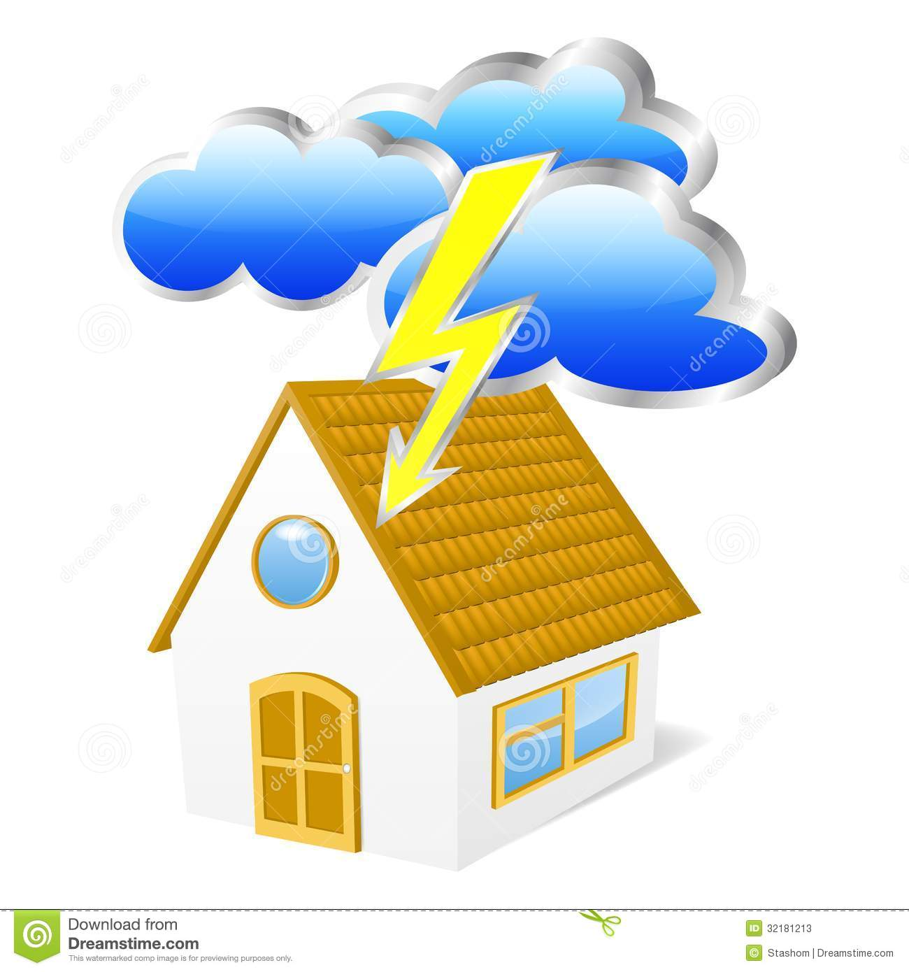 House in Clouds Clip Art.