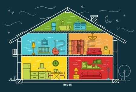 44,798 House Color Stock Vector Illustration And Royalty Free.