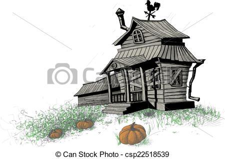 Vectors of halloween house color.