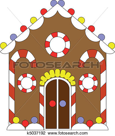 Clipart of Gingerbread house color 02 k5037192.