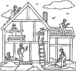 Clipart Construction House.