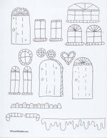 Printable Paper Gingerbread House Patterns.