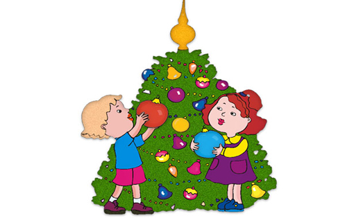 Christmas House Decorations Clip Art.