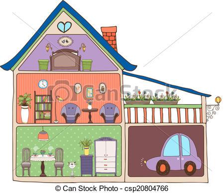 Home decor clipart designs.