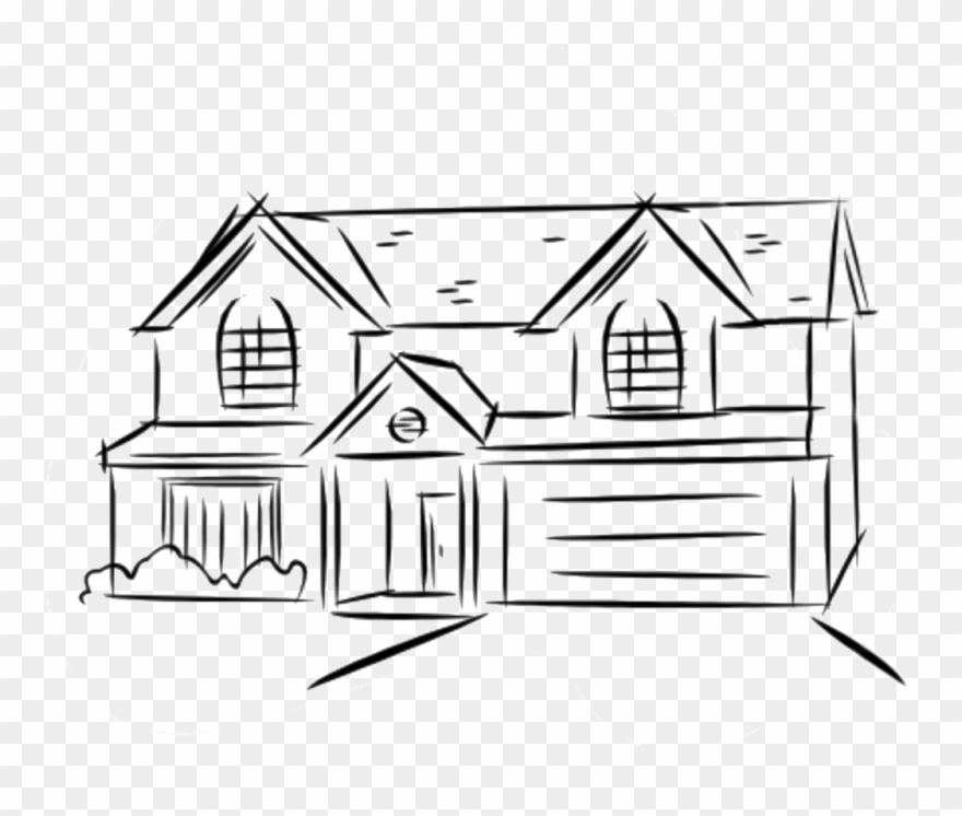 Floor Clipart Two Story House 2 Line.