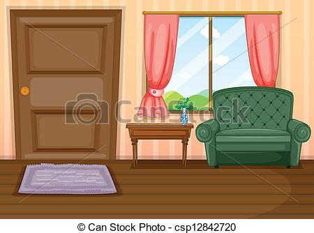 Vector Illustration of Furnitures inside the house.
