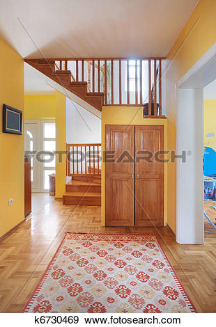 Stock Photograph of House entrance hall k6730469.